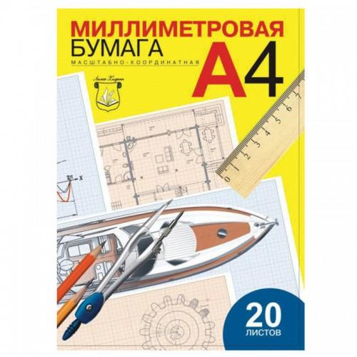 Бумага масштабно-координатная А4 20л. арт.ПМ/А4 (1/40шт)