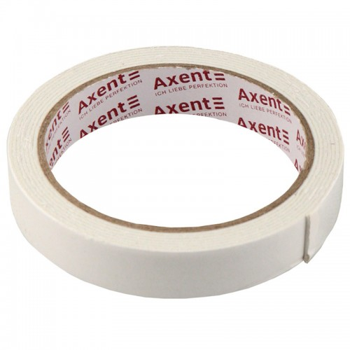 "Клейкая лента двухсторонняя спен. ""AXENT"" 18мм*2м арт.3111-А  (8/192шт)"