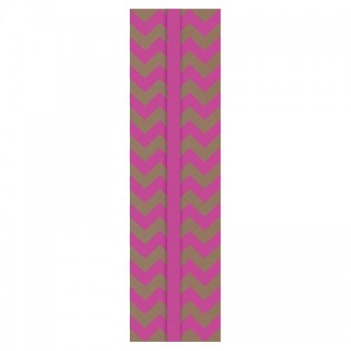 Закладка д/книг карт. (17*4.5см) РОЗОВЫЙ ЗИГЗАГ арт.42923