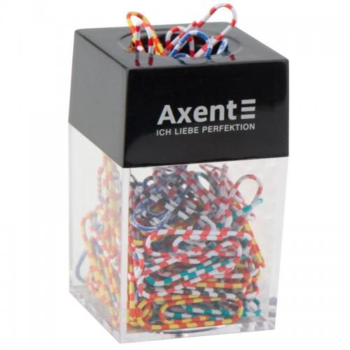 Скрепочница AXENT магнитная 4,2*4,2*6,9см арт. 4120-А (1/12шт)