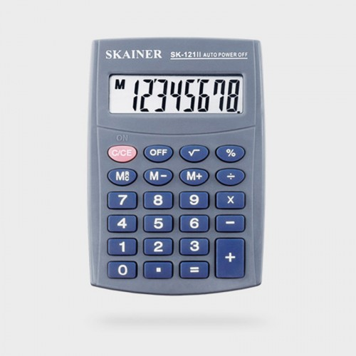 Калькулятор SKAINER 8 разр.(64*98.5*13мм) арт.SK-121 II