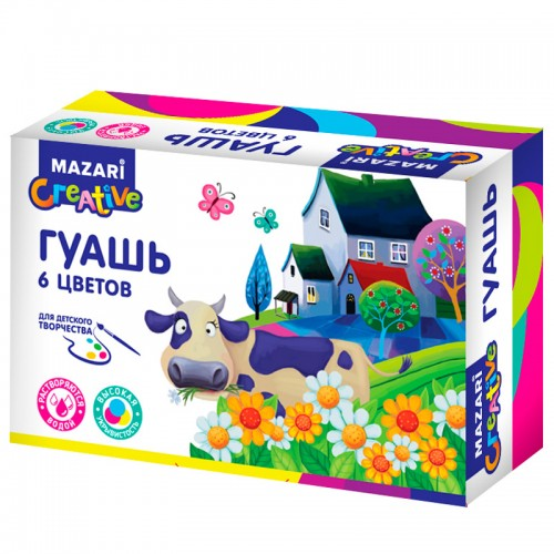 Гуашь ART ANIMALS набор 6цв*20мл карт.кор. арт.M-2052 (1/24наб)