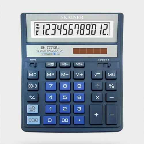 Калькулятор SKAINER 12 разр.(157*200*32мм) арт.SK-777 XBL