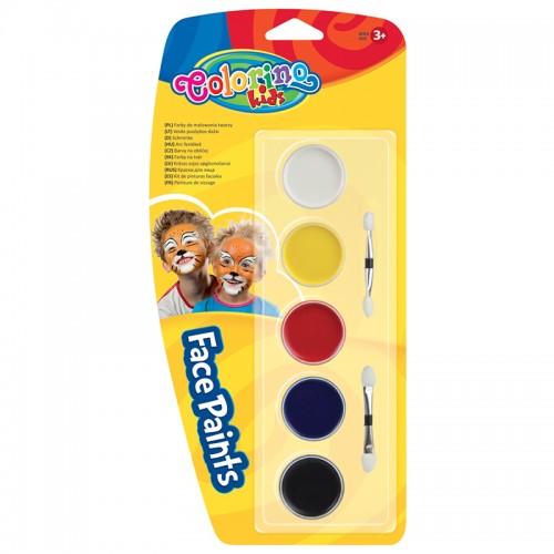 Краски для грима в таблетках набор 5цв блистер арт.CL15950PTR