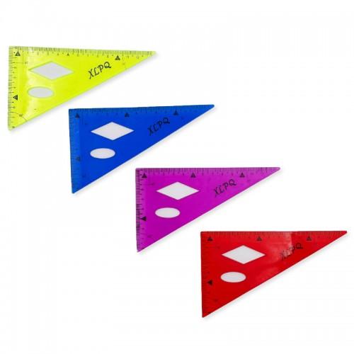 Треугольник гнущийся PVC 13см арт. XLPQ,1018 (1/48/1440шт)