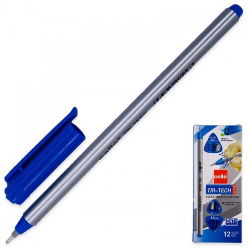 Ручка шар. CELLO СИНЯЯ 1мм TRI-TECH арт.CL-1003 (12/72/1728шт)