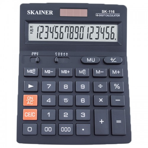 Калькулятор SKAINER 16 разр.(140*176*45мм) арт.SK-116