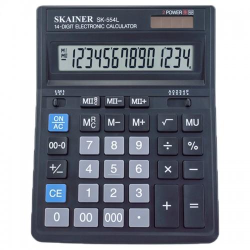 Калькулятор SKAINER 14 разр.(157*200*32мм) арт.SK-554L