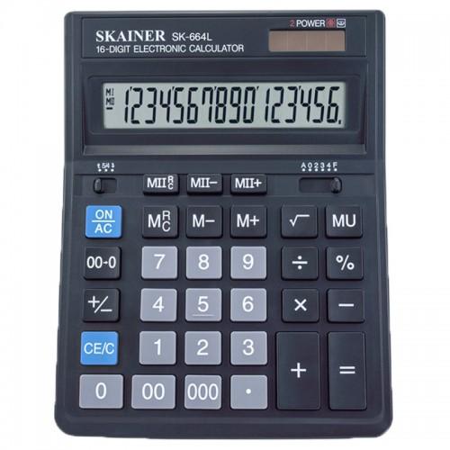 Калькулятор SKAINER 16 разр.(157*200*32мм) арт.SK-664L