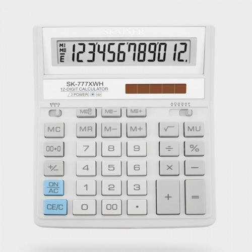 Калькулятор SKAINER 12 разр.(157*200*32мм) арт.SK-777 XWH