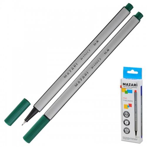 Ручка капиллярная FINO трехгр. 0,4мм ЗЕЛЕНАЯ арт.М-5300-73 (1/12/1728шт)