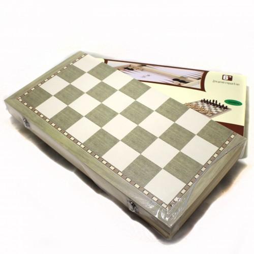 "Игра""Шахматы 3 в1"" дерево (35*17см) арт. W3418(1/48шт)"