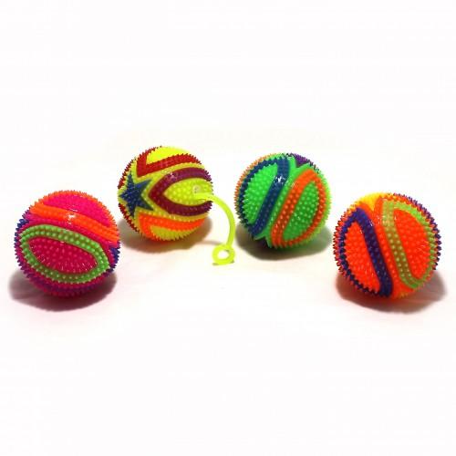 Мячик резиновый светящ. с держ.д/пальц. D-7,5см арт.1435 (12/360шт)