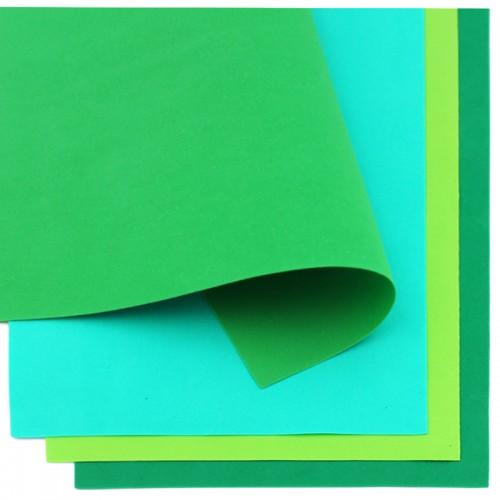 Фоамиран (21*30см) 1,0мм набор ЗЕЛЕНАЯ ГАММА 10л арт.7031 (1/60наб)