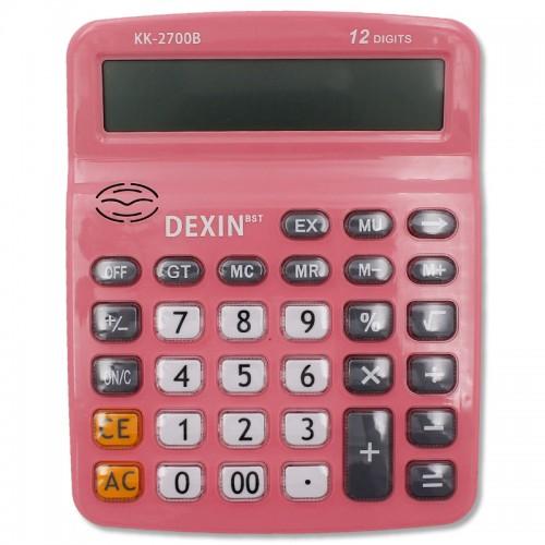 Калькулятор 12 разр. прозр.нестир.кнопки . цв. кор/15,5*19,5cm.арт.KK-2700B