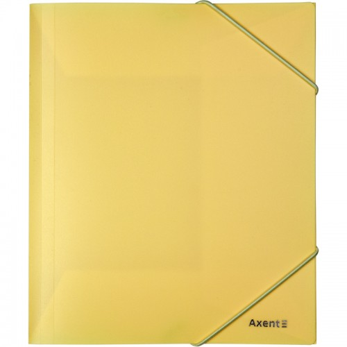 Папка на резинке А5 AXENT пласт.Pastelini ЖЕЛТАЯ арт.1514-26-А (1/12шт)