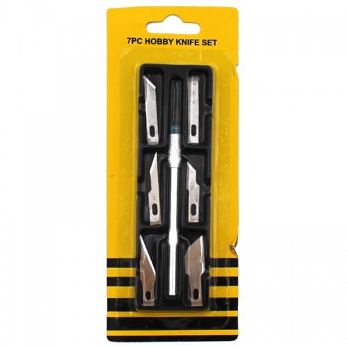 Нож-скальпель с 6 насадками арт.6161 (1/480наб)