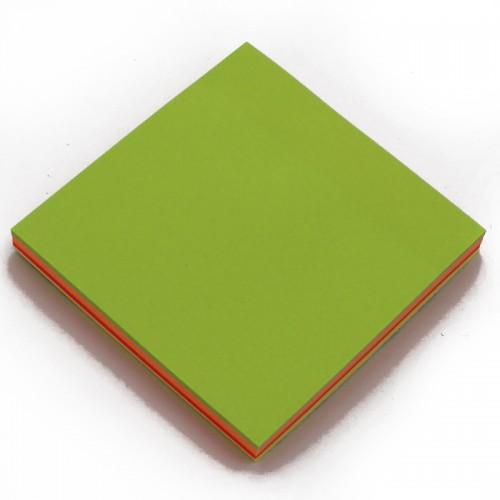 Блок c липк.слоем (76*76мм) неон АССОРТИ 5цв 100л арт.10661 (1/12/600шт)