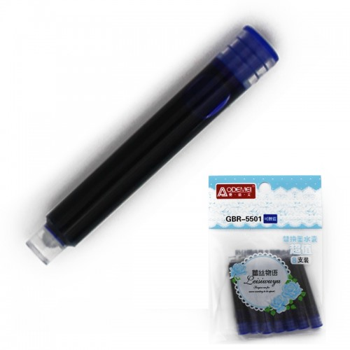 Картридж д/перьевой ручки син. цена за 1шт!арт.GBR-5501 (8/11520шт)