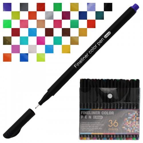 Ручка капиллярная FINELINER 0,4мм 36цв набор арт.5486-36 (1/36/72наб)