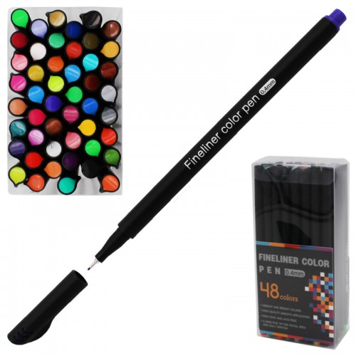 Ручка капиллярная FINELINER 0,4мм 48цв набор арт.5486-48 (1/36/72наб)