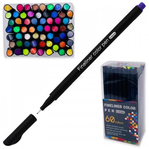 Ручка капиллярная FINELINER 0,4мм 60цв набор арт.5486-60 (1/20/40наб)