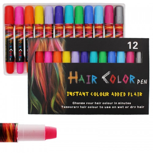 Краска-мелки для волос набор 12цв арт.6512-12 (1/50наб.)