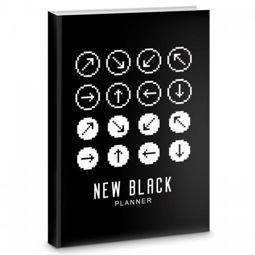 Блокнот-bullet А5+ 64л NEW BLACK Диз.3 бум.70г/м2 арт.ББ56485 (1/32шт)
