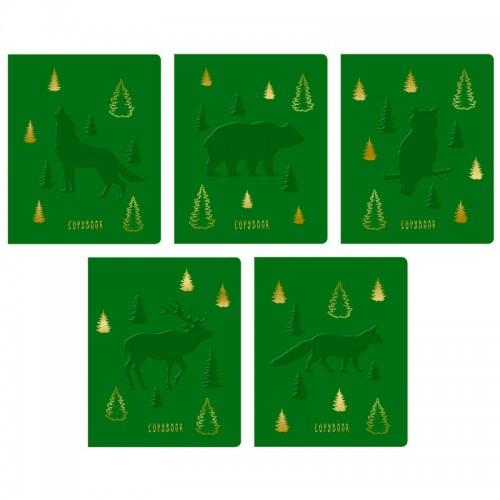 Тетрадь 48л клетка TOTAL GREEN FAUNA тисн.фольгой арт.ТККЛ487306 (10/100шт)