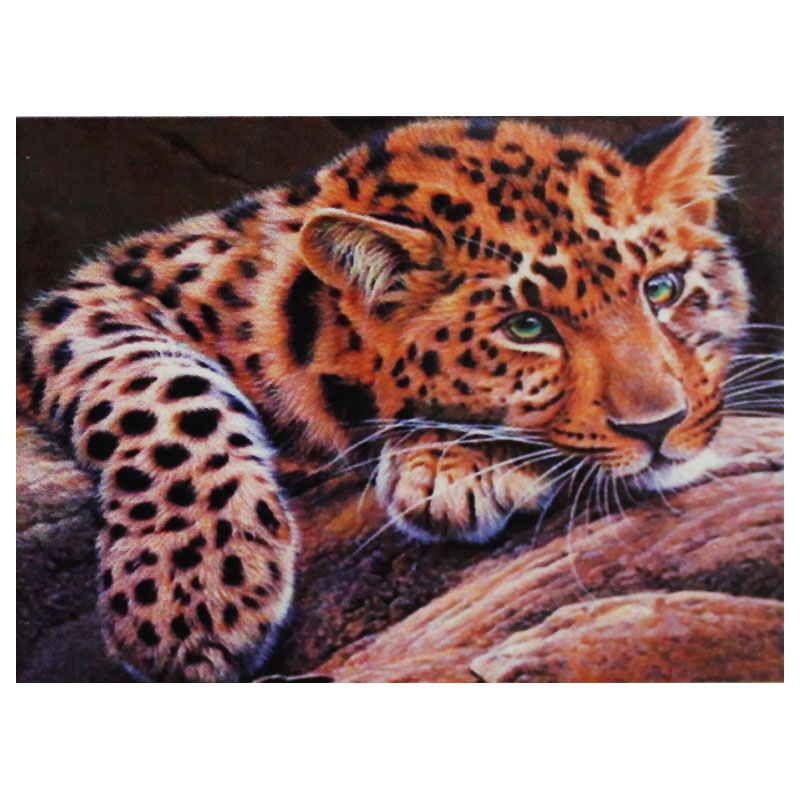 Картина по номерам (30*40см) ЛЕОПАРД арт.30973(1/30шт)