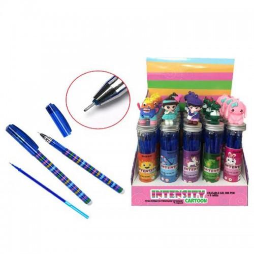 Ручка гелев. пиши-стирай INTENSITY CARTOON СИНЯЯ+9стержн.0,5мм иг.нак. арт.M-5424Т-70 (1/20/320шт)