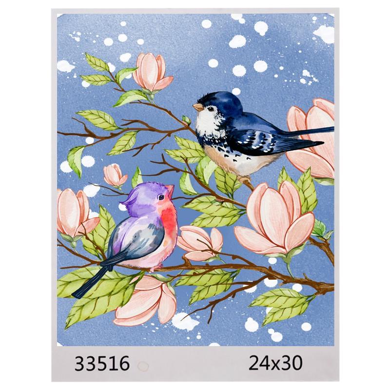 Картина по номерам 24*30 ПТИЧКА арт.1593,33516 (1/100шт)