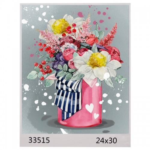 Картина по номерам 24*30 БУКЕТ арт.1592,33515 (1/100шт)
