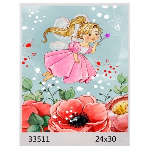 Картина по номерам 24*30 ФЕЯ ЦВЕТОВ арт.1597,33511 (1/100шт)