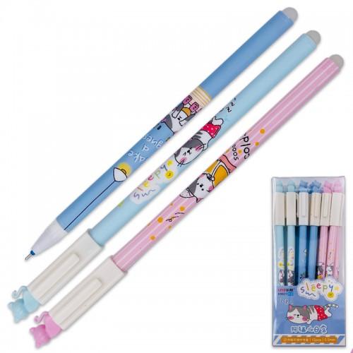 Ручка гелев. пиши-стирай CAT СИНЯЯ 0,5мм арт.K9927 (12/144/2304шт)