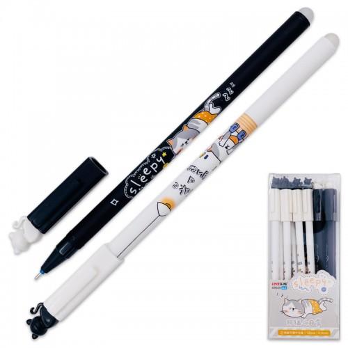 Ручка гелев. пиши-стирай CAT СИНЯЯ 0,35мм арт.K9929 (12/144/2304шт)