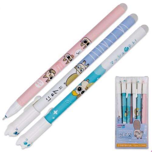 Ручка гелев. пиши-стирай CAT СИНЯЯ 0,35мм арт.K9947 (12/144/2304шт)