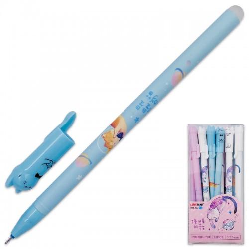 Ручка гелев. пиши-стирай CAT СИНЯЯ 0,35мм арт.K9907 (12/144/2304шт)