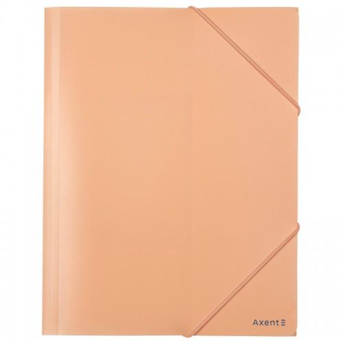 Папка на резинке А4 AXENT пласт.Pastelini ПЕРСИКОВАЯ арт.1504-42-А (1/50шт)