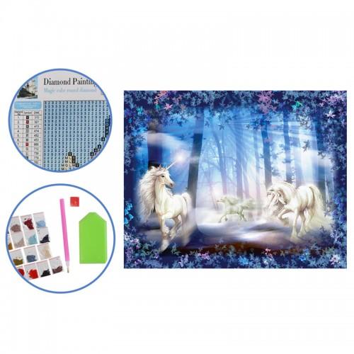 Алмазная мозаика (25*30см) ЕДИНОРОГИ арт.М-11509 (1/60шт)